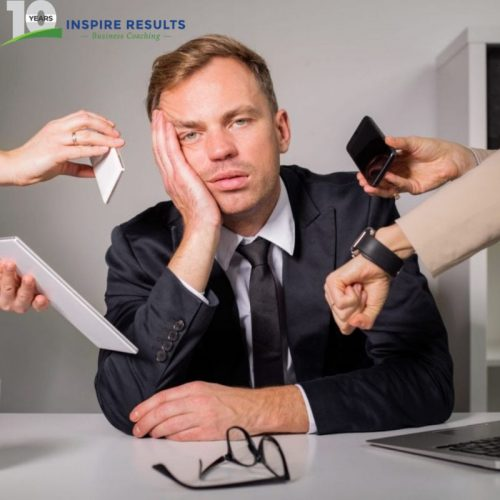 Inspire Results Business Coaching showing a Stressed Executive